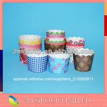 La grasa a prueba de papel para hornear tazas de torta, panecillo taza de papel para hornear