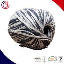 Hoyia 25% Merino Wool 25% Viscose 42% Polyamide 8% Metallic Lurex pompom yarn,double knitting slub yarn