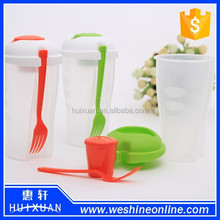Hot Selling BPA Free Vegetable and Fruit Salad Container / PP Salad Blaster Cup