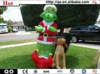 2015 high quality sale outdoor christmas grinch inflatables