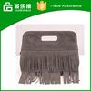 2015 New European Tassel Lady Leather Handbag Female Bag Made China