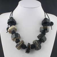 The New Fashion charm necklace stone resin