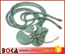 Hand-woven waist belt extended metal allergy prevention belts