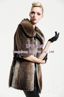 BG23700 Genuine 2015 Muskrat Fur Coat
