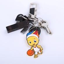 cute design soft silicone bird keychain