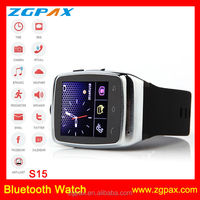 ZGPAX Quad Band Watch Phone Bluetooth Headset Bluetooth Dialer 1.54 inch Screen