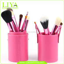 new make up brushes long silicon aluminium handle makeup brush hot sale