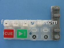custom-design conductive spray coating silicone keypad