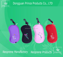 New design and hot sell Water Resistant Protective zipper closure soft neoprene glasses Case