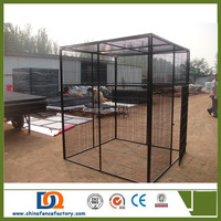 Outdoor cheap welded Metal Wire Dog Kennel with detachable covers of waterproof cloth