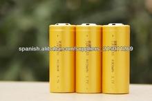 Icr26650 3.7v 4000 mah batería de litio de la célula 26650