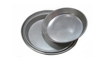 LY-816 36cm Satin Finish Round Aluminium Alloy Tray