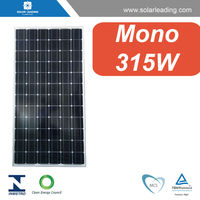 Good quality 315w mono crystalline module connect to solar grid inverter for on grid solar home power system