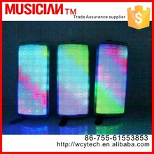 2.1 speaker subwoofer with LED Light bluetooth speaker build in mic support hand free talking