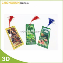 3D Lenticular printing promotional bookmark for gifts
