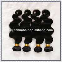 """Wholesale body wave 18"""" peruvian hair natural black body wave factory price supply"""