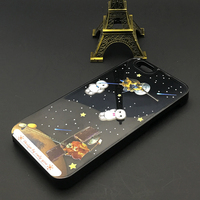 3D Space Exploration Liquid Flotaing Hard Back Plastic Case Cover For iPhone 6S