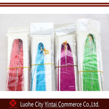 200-300 strand 120cm silk hair tinsel for human / feather hair extensions ,12 colors option