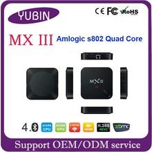Android 4.4 quad core MXIII TV box google internet for taiwan iptv