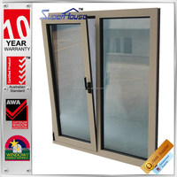 superhouse double glass fix window and aluminum tilt and turn window with AS2047 standard