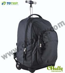 Large black wheeled trolley backpack