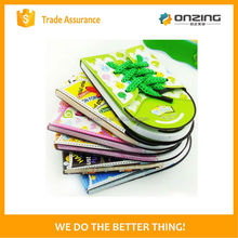 Onzing good quality fashion four leaf clover shape sticky notes for office