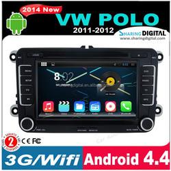 Andriod 4.4.2 support Google GPS online Navi VW Polo car dvd gps 2 din