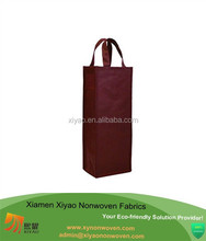 Reusable Gift Bag Single Bottle Wine Tote Vineyard Non Woven Wine Bag