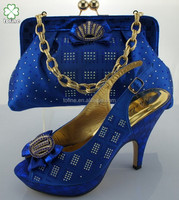 wholesale high quality shoe and bag set women for party
