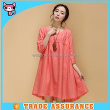 Full Cotton Short Dress For Pregnant