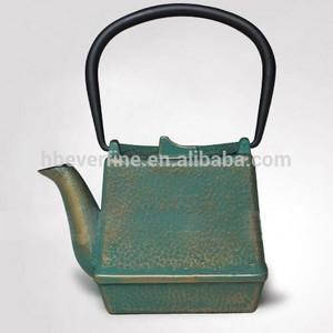 日本人四角い販売のための鋳鉄のティーポット
