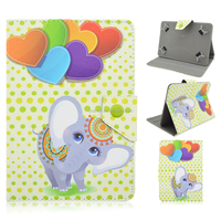 For iPad 2 3 4 5 6 Mini Air Fashion Colored Drawing Elephant Pattern PU Leather Flip Wallet Case