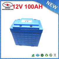 Rechargeable LiFePO4 12v 100Ah ebike battery pack for wind solar power system