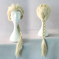 Best selling frozen elsa wig for adult snow queen elsa wig with high quality for halloween party decoration W2018