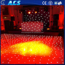 top sale twnkling LED dance floor for wedding and party, white and black led starlit dance floor