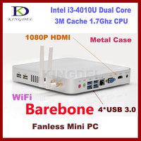 Lowest Price Thin Client Mini PC i3 4010U CPU Barebone Computer 300M Wifi 3D Game Support