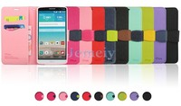 China Online Candy Color Sim Card Holder Wallet Leather Case For LG G3 Cases and Covers Made in China