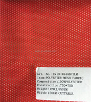 75 D 100%Polyester mesh fabric for sports lining fabric