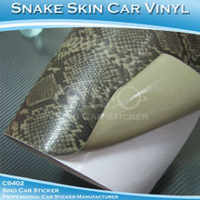 Atacado carrosemotocicletas com fuga de ar de pele de cobra carro adesivos decorativos filme 1.52x30m