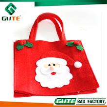 Red Felt Christmas Shopping bag Beautiful Lady carry Bag For Santa Gift