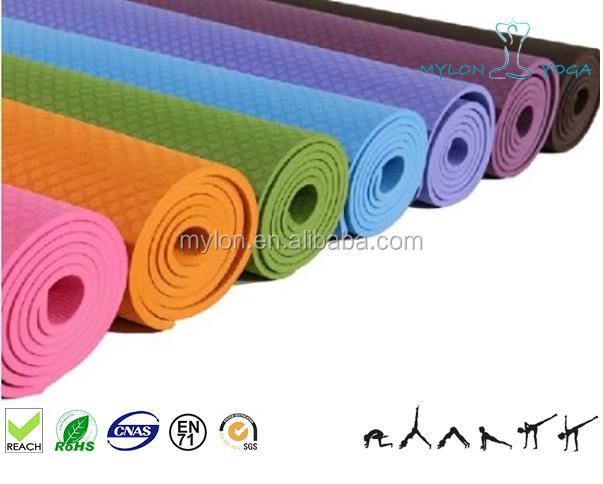 Wholesale Gymnastic Equipment Tpe Rubber Yoga Mat Purple