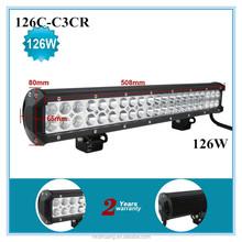 126W led light bar for jeep combo lamp high lumens light bar atv light bar