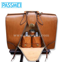Western style Classical Brown color Men leather laptop bag wholesale factory price