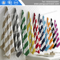 Assessed Supplier customized woven stripe cotton beach towel for adults