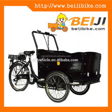 CE denish bakfiets adult electric 3 front wheel trikes for sale 2015