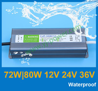 Free shipping led power adapter 80w 12v power adapter CE RoHS IP67 rainproof ac 12v power adapter
