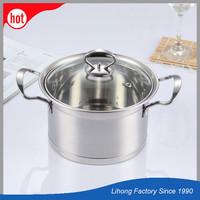 18/20/22/24/26CM Stainless Steel Hot Soup Milk Pot Casserol