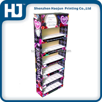 Custom-design flowers showcase cardboard display stand for sweet flower shop or exhibition