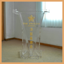 transparent modern design acrylic church lectern church pulpits