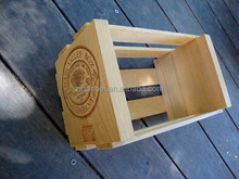 Custom logo varnished solid wooden storage crate,small crate wood